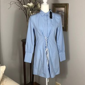 NWT Romeo and Juliet couture Lt blue blouse dress